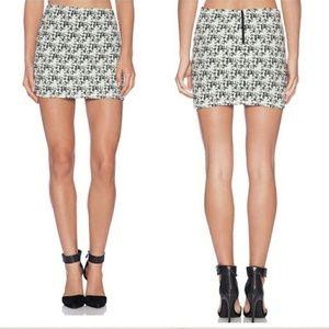 Alice + olivia Black and Cream Mini Skirt